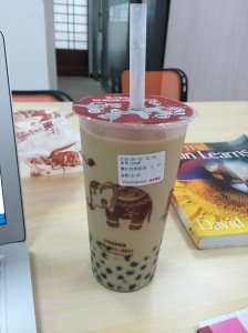 Bubble tea. Also so delicious.
